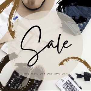 Buy One Get One 50% Off!!